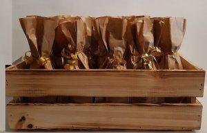 Holzkiste für den Adventskalender